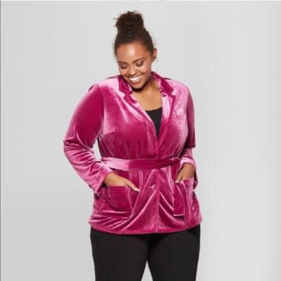 75ed5bc79b0e4 Ava & Viv Jackets & Coats | Ava Viv X Quaint Berry Velour Blazer ...